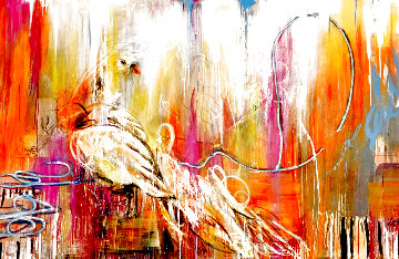 To Fly, to Prosper, to Rise 2011 60x96 Original Painting - Ash Almonte