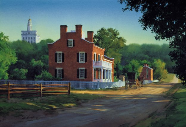 Heber C. Kimball Home, Summer  Limited Edition Print by Al Rounds