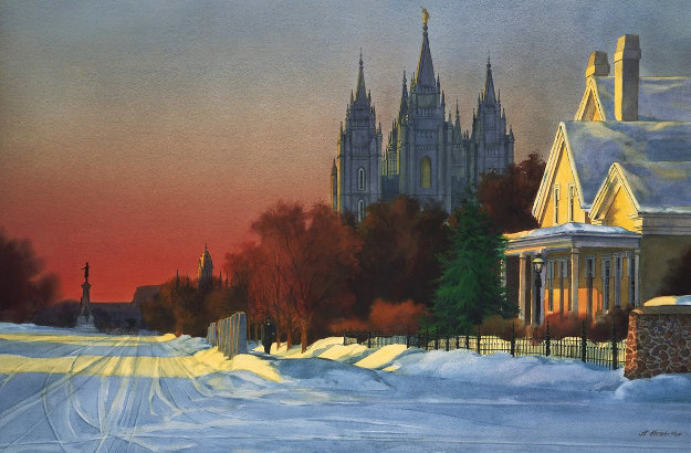 South Temple 1893 Utah Limited Edition Print by Al Rounds