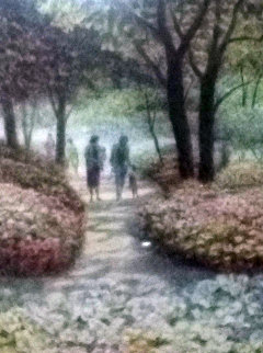 A Family Walk AP 1980 Central Park Limited Edition Print by Harold Altman