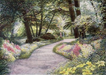 Shaded Path 1989 Limited Edition Print - Harold Altman