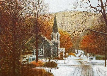 First Snow 1990 Nice but way too high.  Limited Edition Print - Harold Altman
