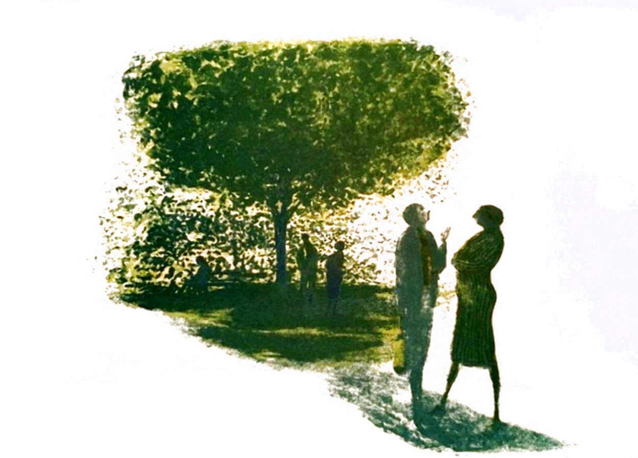Conversation II Limited Edition Print by Harold Altman