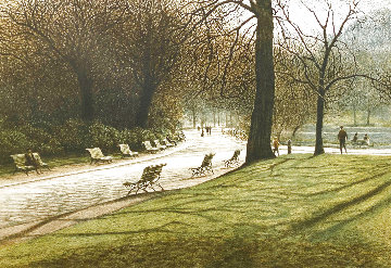 Benches 1982 Limited Edition Print - Harold Altman