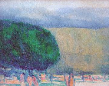 Park II 18x22 Original Painting - Harold Altman