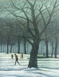 Figures in the Snow AP 1984 Limited Edition Print - Harold Altman