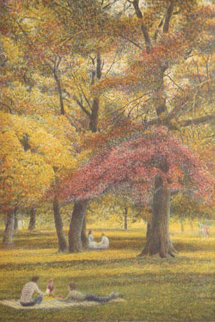 Fall Suite of 4 Lithographs 1985 Limited Edition Print by Harold Altman