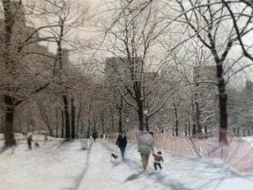 Snow Central Park, New York 1985 Limited Edition Print - Harold Altman