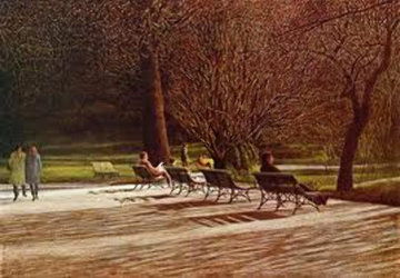 Benches 1983 Limited Edition Print - Harold Altman