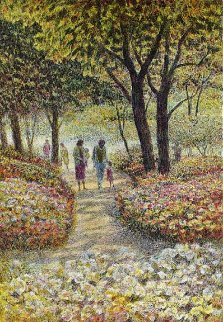 Family Walk AP 1980 Limited Edition Print - Harold Altman