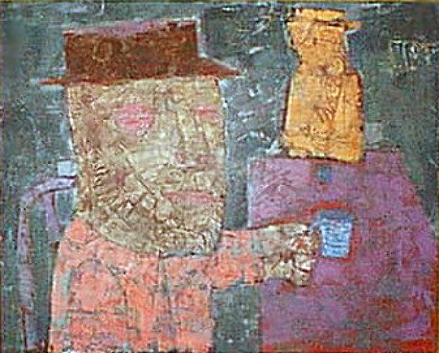 Coffee Drinkers 1953 26x32 Original Painting by John Altoon