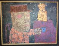 Coffee Drinkers 1953 26x32 Original Painting by John Altoon - 2