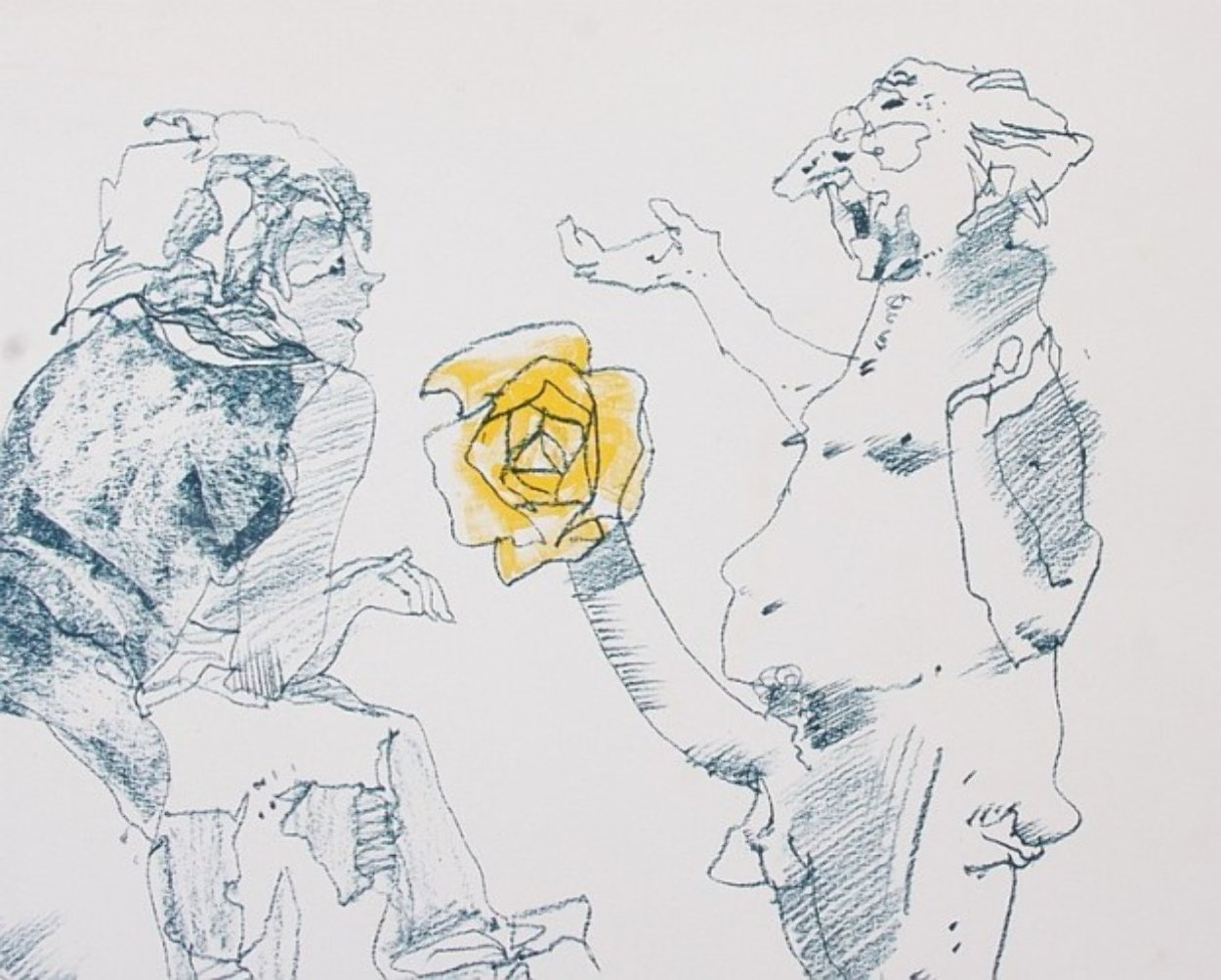 Untitled Lithograph 1967 Limited Edition Print by John Altoon