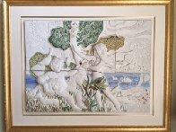 Garden of Eden Ceramic Sculpture 37x46  Huge Sculpture by Sunol Alvar - 1