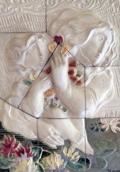 Les Elements, Set of Four Ceramic Sculptures 36x30 Sculpture by Sunol Alvar