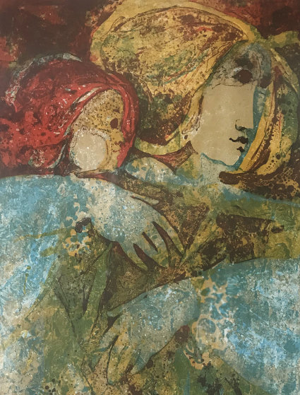 Mother And Child 1970 Limited Edition Print by Sunol Alvar