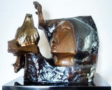 La Paloma Bronze Sculpture 1988 10 in Sculpture - Sunol Alvar