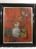Bodegon Sobre Rojo 1970 36x32 Original Painting by Sunol Alvar - 1