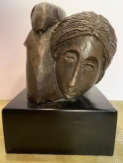 Mujer Con Paloma I 1976 8 in Sculpture - Sunol Alvar
