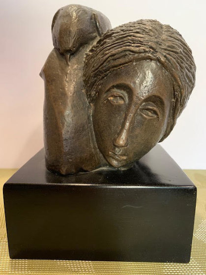 Mujer Con Paloma I 1976 8 in Sculpture by Sunol Alvar