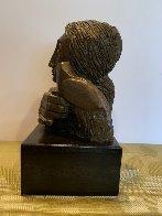 Mujer Con Paloma II Bronze Sculpture 1976 9 in Sculpture by Sunol Alvar - 1