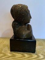 Mujer Con Paloma II Bronze Sculpture 1976 9 in Sculpture by Sunol Alvar - 2