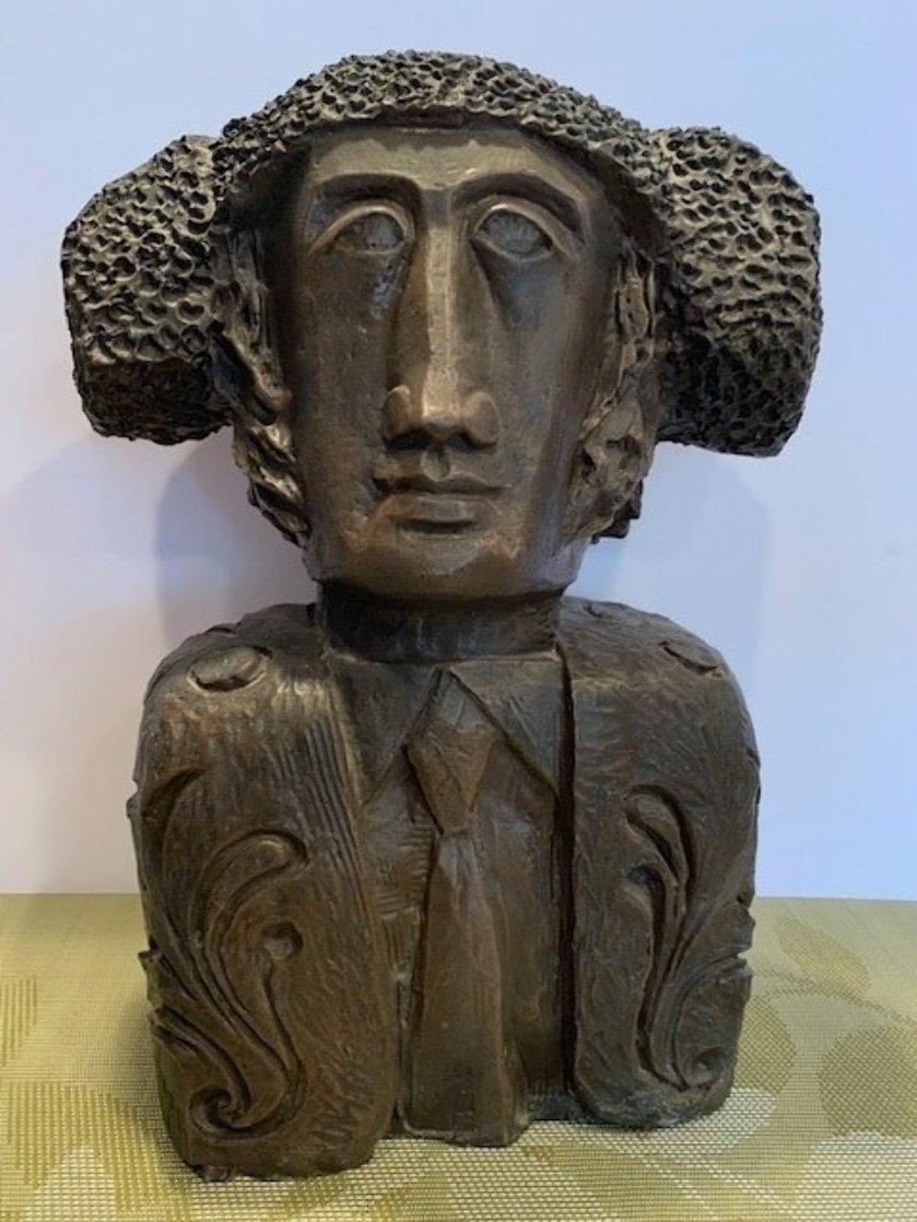 Tete Torero Bronze Sculpture 1976 13 Sculpture by Sunol Alvar