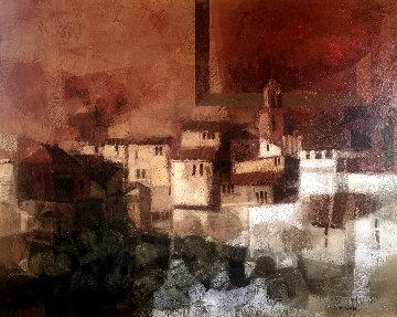 Paisaje Catalan 44x35 Original Painting - Sunol Alvar