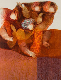 3 Pieces From Suite Biblique: David Plays His Harp, Esther At the Banquet And Ruth Gleanin Limited Edition Print by Sunol Alvar