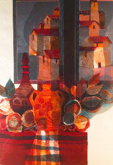 Untitled Village Scene Limited Edition Print by Sunol Alvar