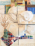 Four Seasons, Suite of 4 Ceramic Wall Sculptures 1980 25 in Sculpture by Sunol Alvar - 2