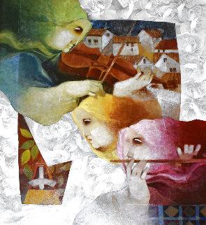 Todo Musicas 2010 32x35  Original Painting - Sunol Alvar