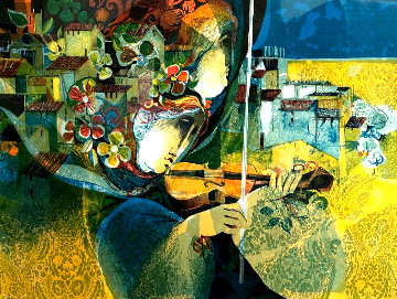 Le Musique Du Village 1974 Limited Edition Print - Sunol Alvar