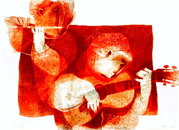 Commenca La Musica 1978 Limited Edition Print - Sunol Alvar