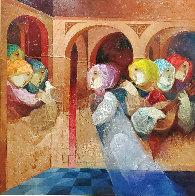 Musical Renaixent 59.5x59.5  Super Huge  Original Painting by Sunol Alvar - 0