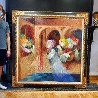 Musical Renaixent 59.5x59.5  Super Huge  Original Painting by Sunol Alvar - 2