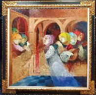 Musical Renaixent 59.5x59.5  Super Huge  Original Painting by Sunol Alvar - 1