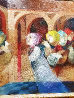 Musical Renaixent 59.5x59.5  Super Huge  Original Painting by Sunol Alvar - 3