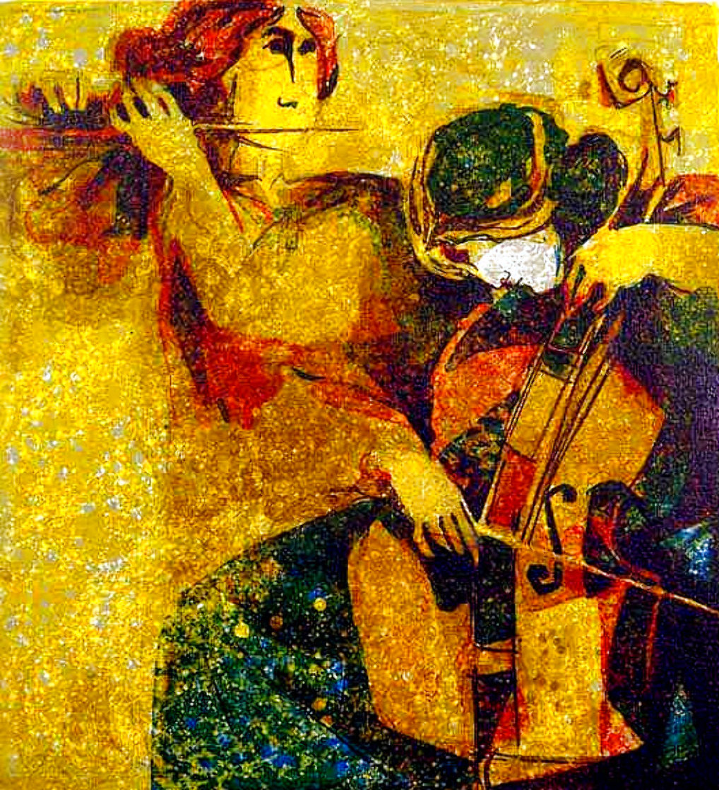 Musicians 1970 Limited Edition Print by Sunol Alvar