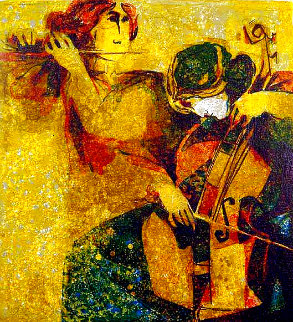 Musicians 1970 Limited Edition Print - Sunol Alvar