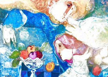 Interieres  1994 29x35 Huge Original Painting - Sunol Alvar