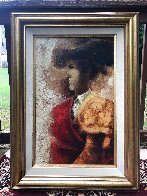 Torero 1974 33x24 Original Painting by Sunol Alvar - 1