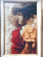 Torero 1974 33x24 Original Painting by Sunol Alvar - 2