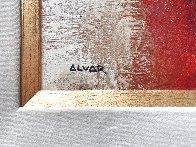 Torero 1974 33x24 Original Painting by Sunol Alvar - 3
