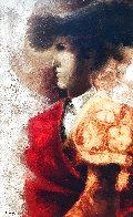 Torero 1974 33x24 Original Painting by Sunol Alvar - 0