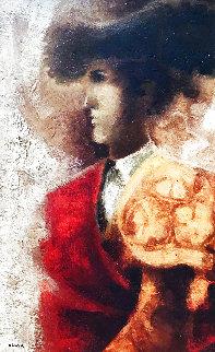 Torero 1974 33x24 Original Painting - Sunol Alvar