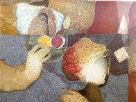 Le Regard Cache 1991 Huge 44x38 Limited Edition Print by Sunol Alvar - 4