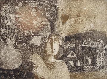 Femme en Bistro Limited Edition Print by Sunol Alvar