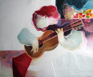 Guitarra Musical 1996 Limited Edition Print by Sunol Alvar