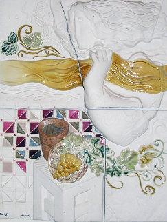 Four Seasons Suite of 4 Ceramics 1980 (Rare) Sculpture by Sunol Alvar